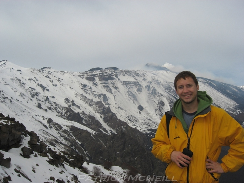 Mount Etna - We had to do a hard hike to get here but it was a really cool place and not many tourists come this way