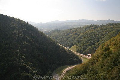 The view from Poienari Castle
