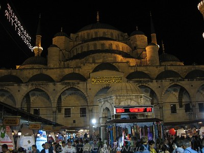 The Blue Mosque at night
