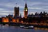 Houses of Parliament<br /> Thames River<br /> London