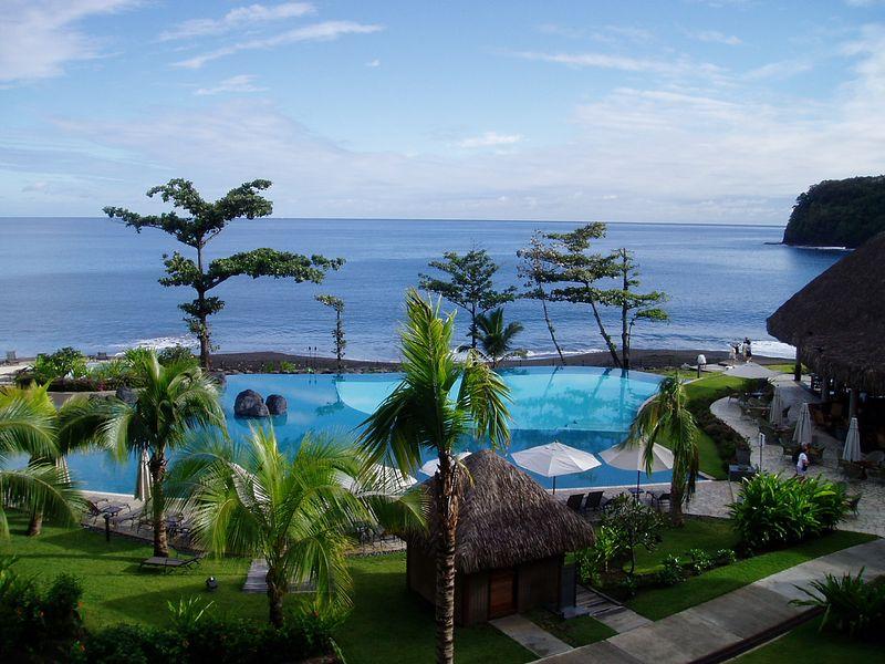 View from hotel room balcony, Radisson Plaza, Tahiti