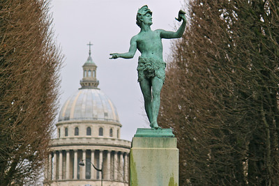 The Pantheon from Jardin du Luxembourg Paris, France January 2011