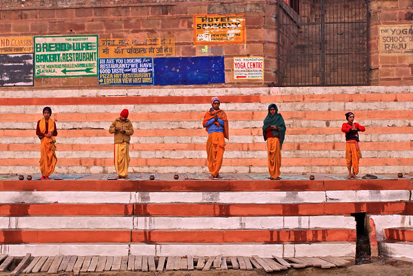 Monks along the Ganges