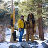 Statues in front yard at Wrightwood