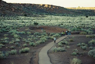 11/13/99 Self-guided ruins trail at Wupatki Pueblo (archaeological site of the Sinagua culture)-stop on the drive to Sunset Crater. Wupatki National Monument