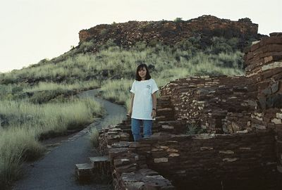11/13/99 Nalakihu Ruins (Sinagua pueblos)-stop on the drive to Sunset Crater. Wupatki National Monument
