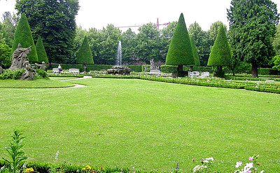 Residenz Garden in Wurzburg, Germany