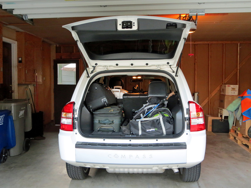 Packed up and ready to go
