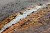 Runoff from Excelsior Geyser into Firehole River