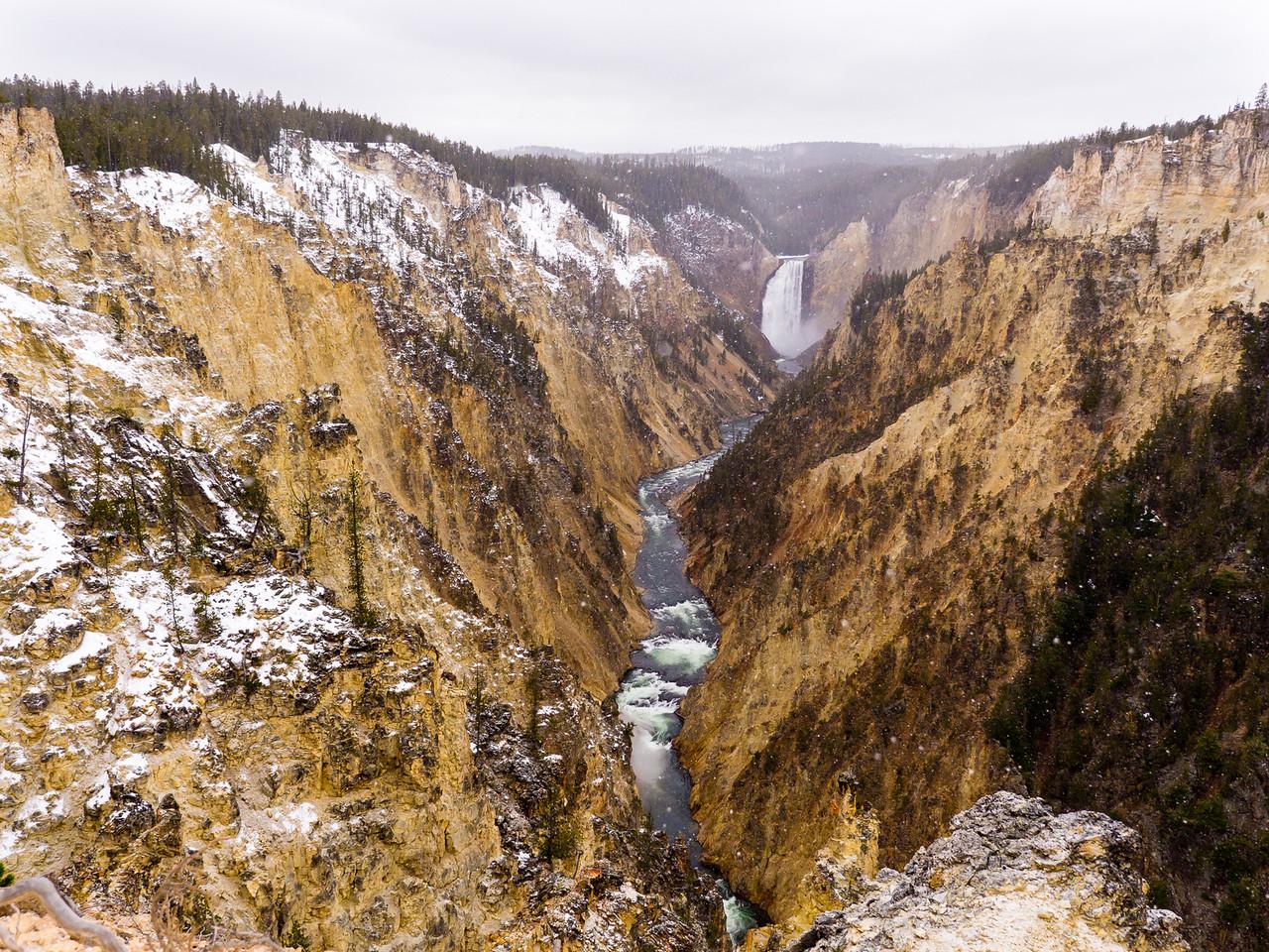 Yellowstone river Lower falls