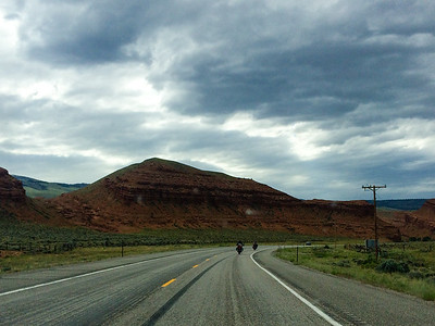 Driving through Wyoming