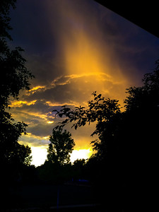 Denver sunset thunderstorm