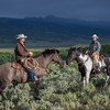 At Absaroka, Brooklyn and Lindsey rest their steeds before heading back to the corral to beat the approaching storm.