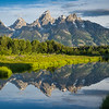 Schwabacher's Landing is another early morning location to capture mirror images of the Tetons.
