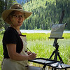 The West attracts many Plein Air artists, including Leigh Lowe, from Baltimore, painting at String Lake.