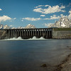 The Jackson Lake Dam helps control water levels on the Snake River.