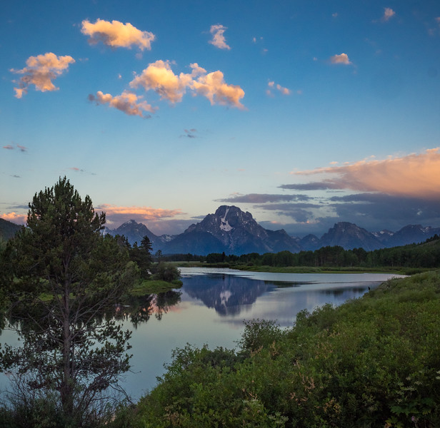 To arrive here, and other iconic locations within the park, we awoke each day at about 4:30 am.  This is Oxbow Bend, reflecting Mt. Moran in the Snake River.