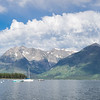 The scene from Leeks Marina on Jackson Lake was an idyllic spot to sail from.