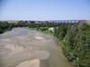 This is a railroad bridge over the Niobrara River in Nebraska.