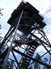 The fire tower in Nebraska National Forest.  It was closed for safety reasons and we were disappointed.