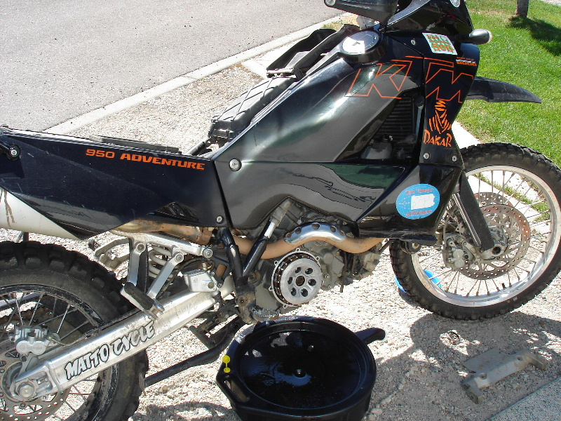 Motorcycle maintenance at Grizzly RV Park in West Yellowstone