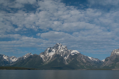 Yellowstone Vacation - Grand Teton National Park - Jackson Lake Area - Mount Moran from Elk Island