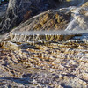 Detail of a terrace created by the never ending expansion of Mammoth Hot Springs in Yellowstone National Park.