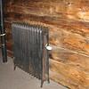 Old Radiator Heater Producing Heat at Old Faithful Inn  - Yellowstone National Park 9-6-05