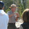 Our Ranger Walk - Geyser  - Yellowstone National Park  9-5-05