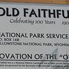 Old Faithful Inn Signage  - Yellowstone National Park 9-6-05