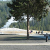 View of Old Faithful from Visitor Center  - Yellowstone National Park 9-6-05