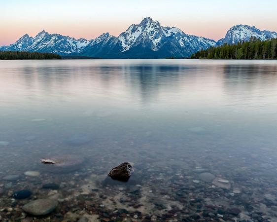 Grand Tetons across Jackson Lake