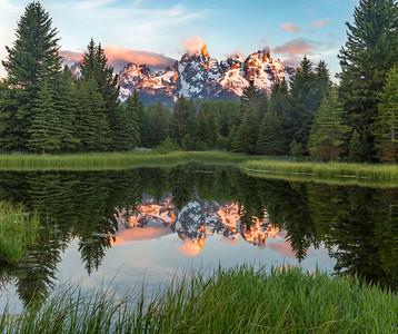Grand Tetons across the pond