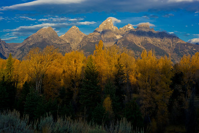 Teton Mountains from Schwabacher Landing