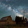 T.A. Moulton Barn and the milky way