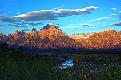 Teton Mountains from Snake River Overlook