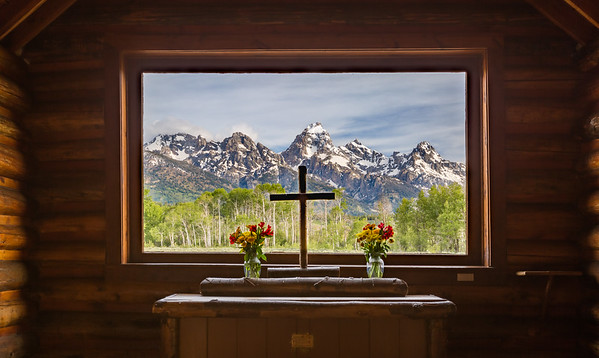 From inside the Chapel of the Transfiguration