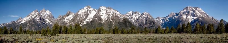 Panorama of Grand Tetons