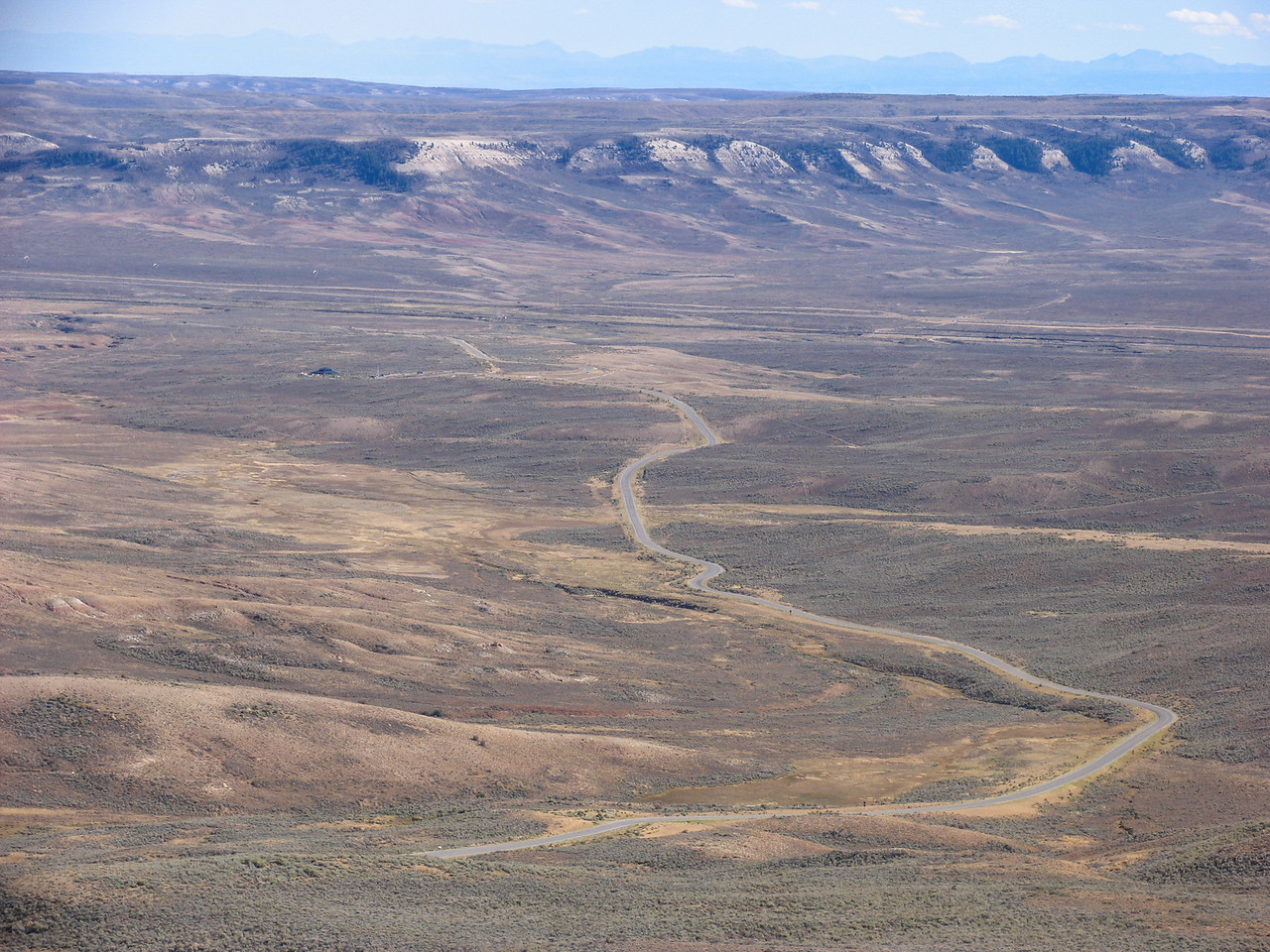 Road leading away from Fossil Butte National Monument - September 2004