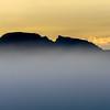 Sleeping Indian at sunrise on a foggy morning.