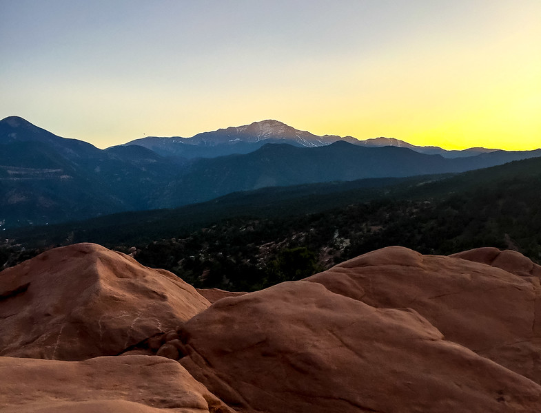 A neat sunset shot from my last day in Colorado Springs.
