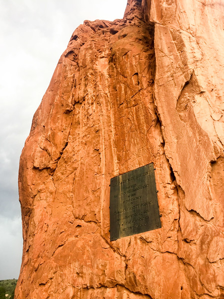 """""""Garden of the Gods"""".  The rocks are very impressive close up.  It's one of those things that photos do a bad job of conveying the grandness of.  Much like me."""