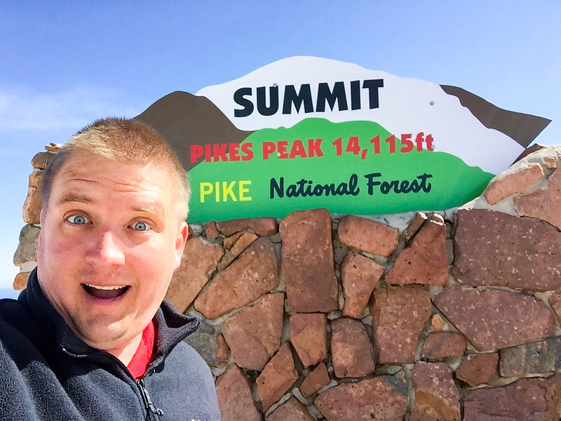 I went up to Pikes Peak and stood in line to take a selflie in front of this sign #tourist.  The drive up to Pikes Peak is pretty fun - especially when you are rocking #rentalpower and you aren't quite concerned with the engine or transmission!