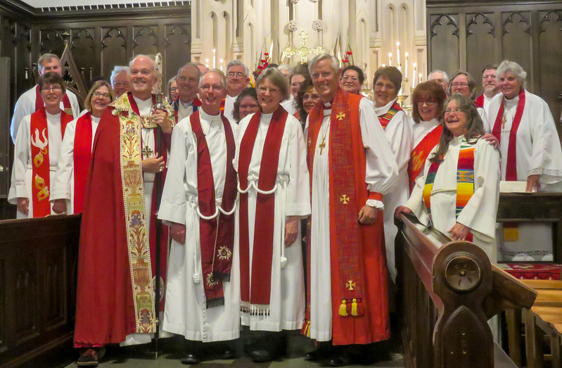 A photo I stole from someone else showing all of the clergy that came to support her.  It was a great event!