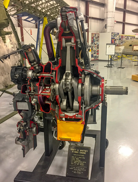 The museum included many cutaways and informative exhibits about how aviation worked in WWII.  My favorite was a great exhibit of how a turbocharger worked by showing the actual turbocharger that a certain plane was built around.