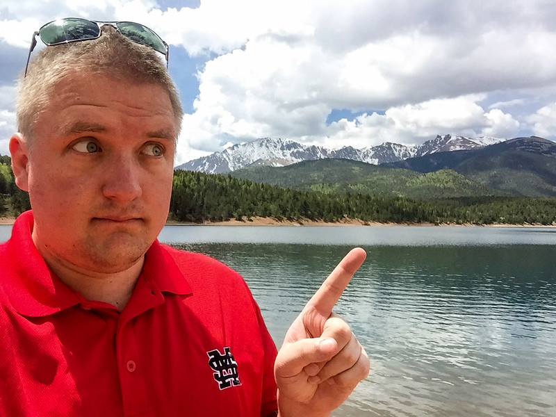 This is me, pointing at a mountain.  If anyone wants a copy of this to print and frame, let me know!