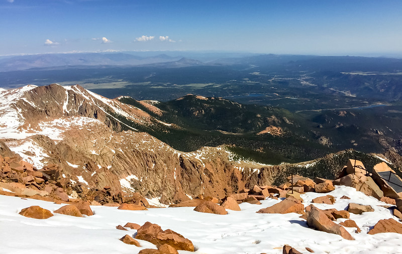Not a shabby view from 14000'.