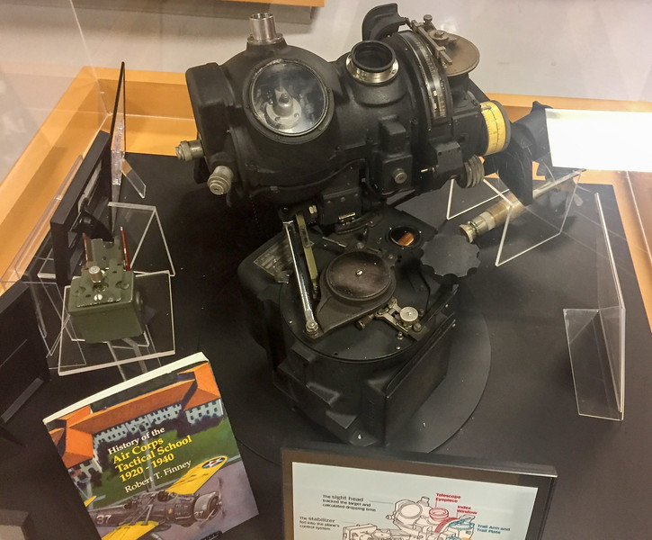 The museum had a ton of neat exhibits, including an actual Norden Bombsight.  This was a very important peice of technology that helped us win the war.  So important in fact, that when the bomber might be crashing, the bombedeer was instructed to destroy the bombsight so the Nazi's wouldn't learn some of the secrets.