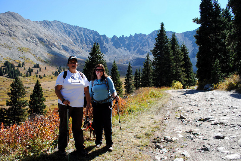 Taking a break to catch our breath!  (trailhead was around 10,500 ft and kept going up!)