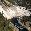 I believe this is the Yellowstone River - just left of the big curve you can see steam from a hot spring